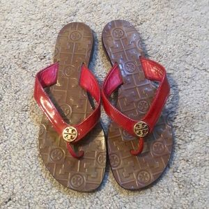 Tory Burch Sandals Size 8 Red